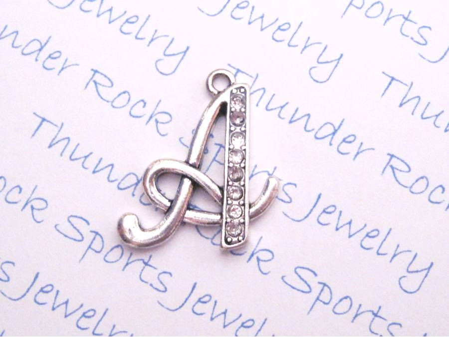24 Crystal Letter A Charms