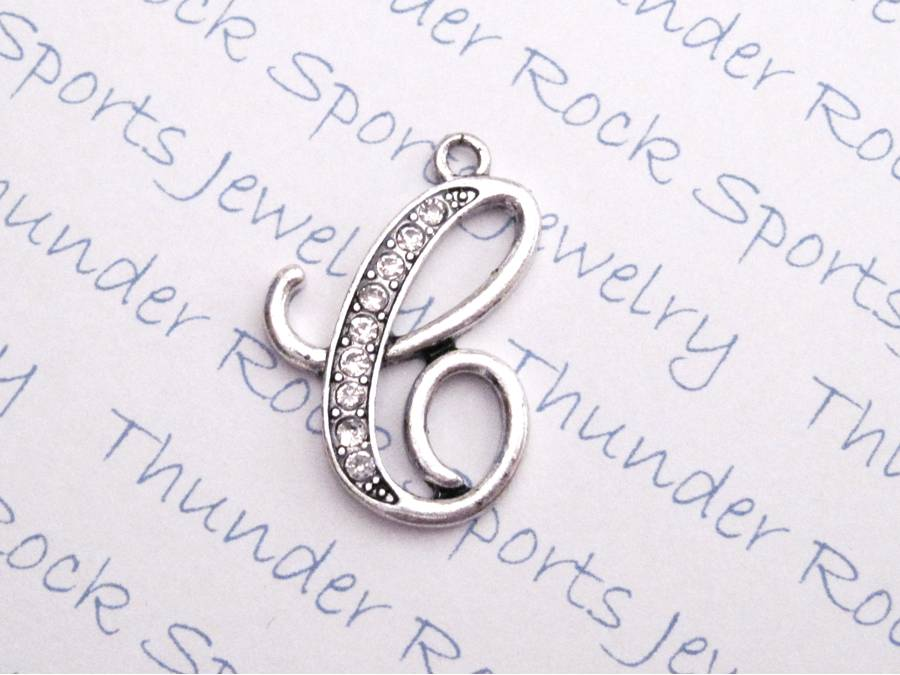 12 Crystal Letter C Charms