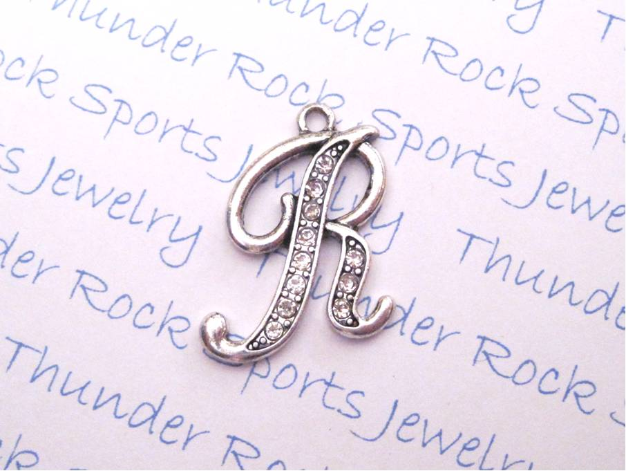 12 Crystal Letter R Charms